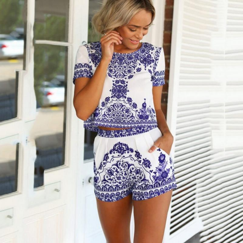 Vestidos de dos piezas falda y blusa corta