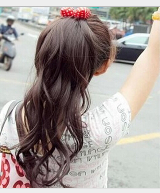 Fashionable romantic line volume tail sweet temperament Hair Extension Piece heat resistant Ladys(China (Mainland))