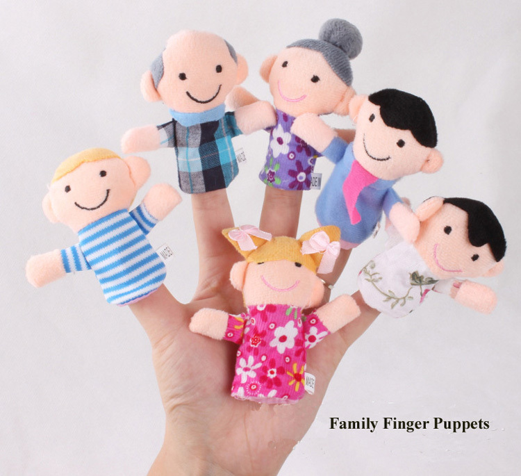 Family Finger Puppets Cloth Doll Baby Educational Hand Toy Story Kid Christmas Gift - Honey Bee store