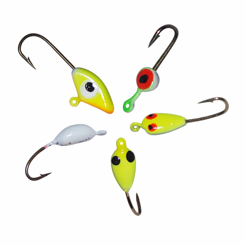 Free shipping 20pcs lot lead jig fish head ice fishing for Fish head app
