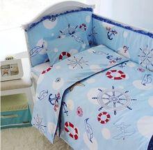 Discount Price top-grade 100% cotton cartoon printed full size bedding set, boy girl or boys crib bedding sets 12pcs/set (China (Mainland))