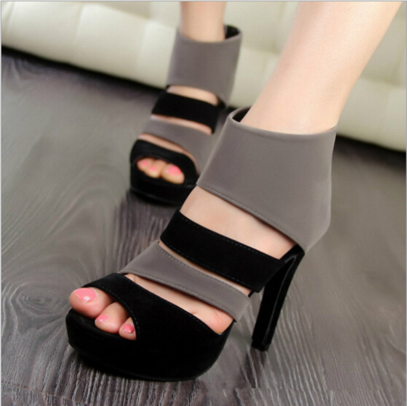 2016 new Spring summer Fashion Women 11 cm High-heeled shoes Sexy Sandals Platform Peep Toe Shoes Thin Heels pumps WS004 - Goldway store