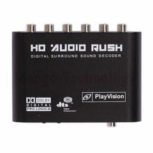 High quality Audio Gear Digital Dolby DTS/AC-3 Optical to 5.1-Channel RCA Analog Sound Decoder SPDIF