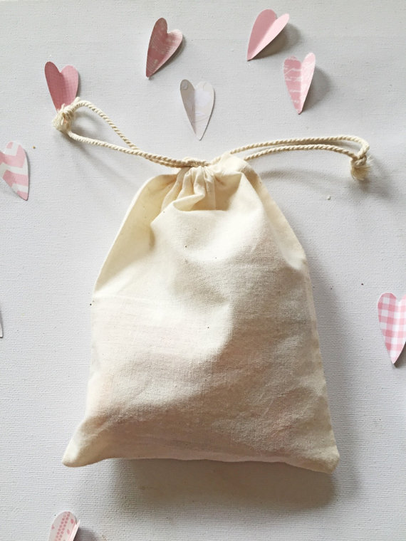 Organic cotton pouch drawstring bags,for gifts, packaging, favors(China (Mainland))