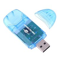 Mini USB 2.0 Card Reader 480M/s SD / MM / CRS-MMC Card Reader  Wholesale Retail