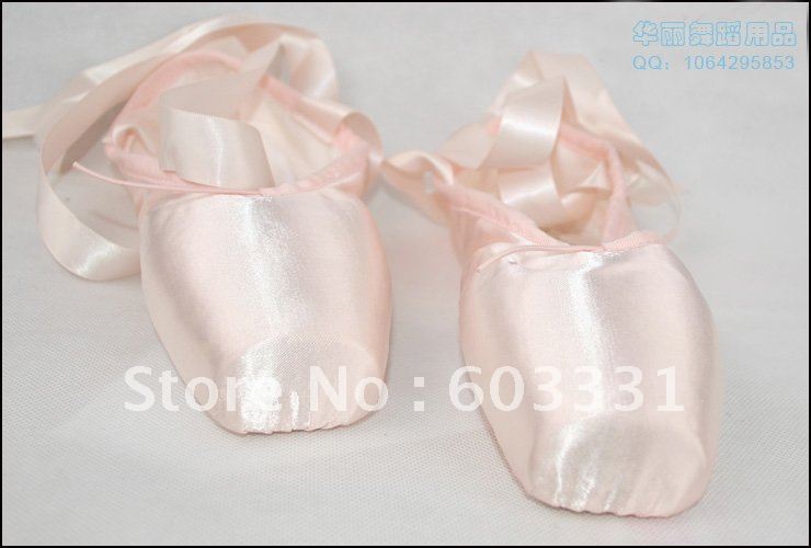 Ladies/Women's Pink Professional Satin Ballet Pointe Dance Toe Shoes US 5-9 - dance dress store