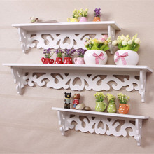 Rococo furniture white wall shelf