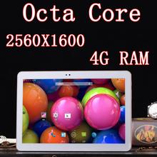 10.1 дюймов 8 ядра Octa ядер 2560 X 1600 DDR 4 ГБ оперативной памяти 32 ГБ 3 г две сим-карты 13MP Bluetooth планшет пк таблетки шт Android4.4 7 8 9