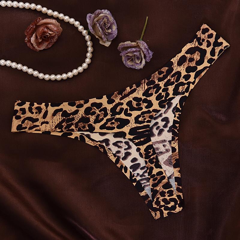 Hot Sale Leopard Women Sexy Seamless Underwear Women T Panties G String Women's Briefs Calcinha Lingerie Tanga Thong For Women