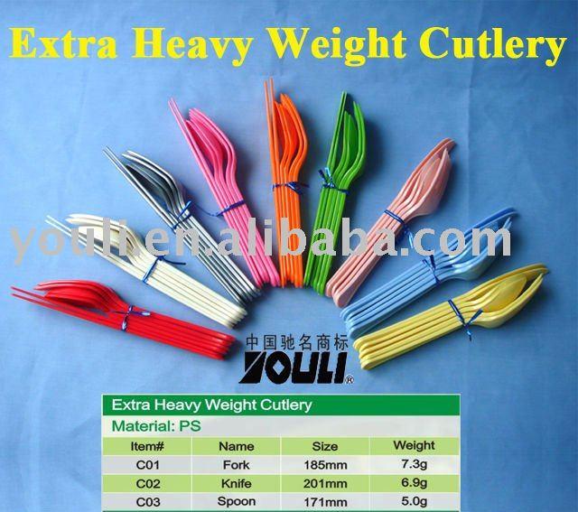 Plastic Dessert Cutlery Sets Premium Heavy Weight Heavy