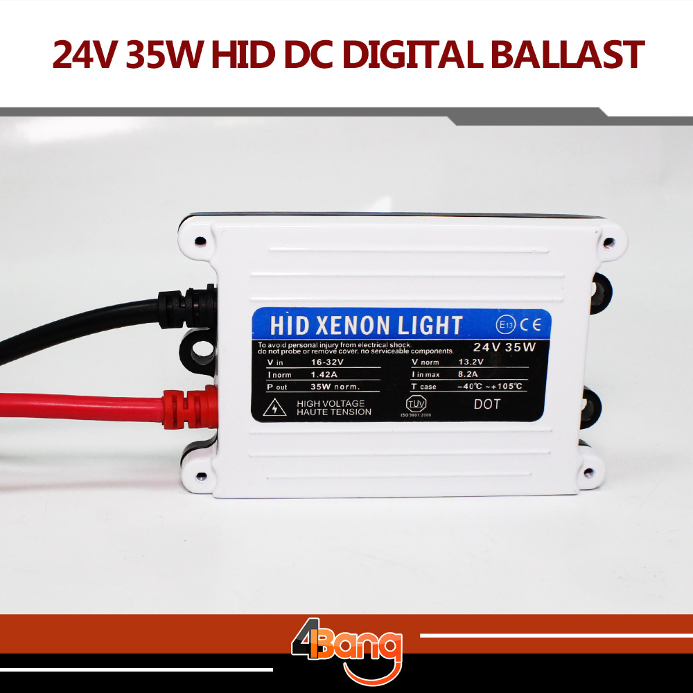 TOP Quality 2pcs Good Quality HID xenon slim digital ballast 24V DC 35W hid ballast car