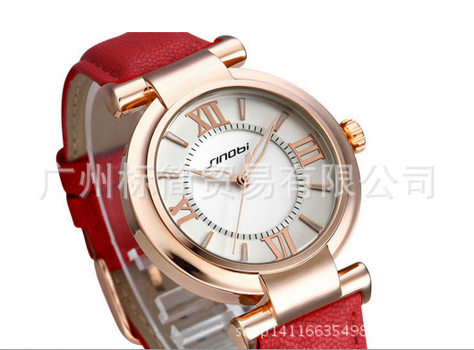 2015 New Arrival Women Fashion & Casual Hardlex Alloy Analog Round Leather Quartz New With Tags 10mm To 19mm Stainless Steel Wri(China (Mainland))