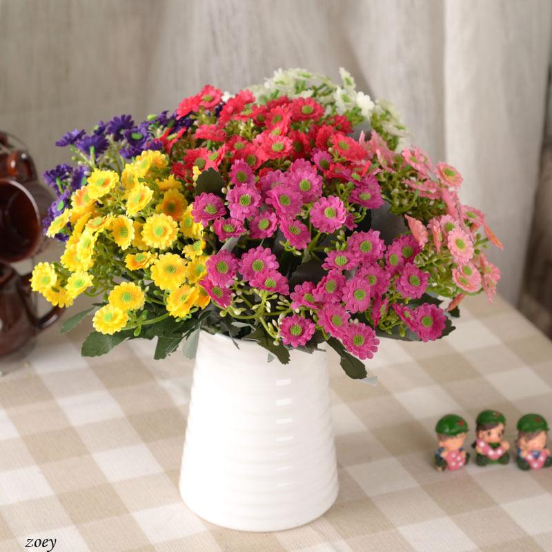 6 heads/piece Artificial Silk chrysanthemum Flowers for Home Livingroom table furnishingsWedding Decoration(China (Mainland))