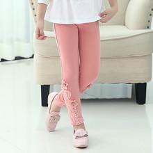 2015 New Winter Warm Thick Children Clothing Girls Leggings Cotton Lace Kids Pants Fashion Girls Pants For Retailing GP0023