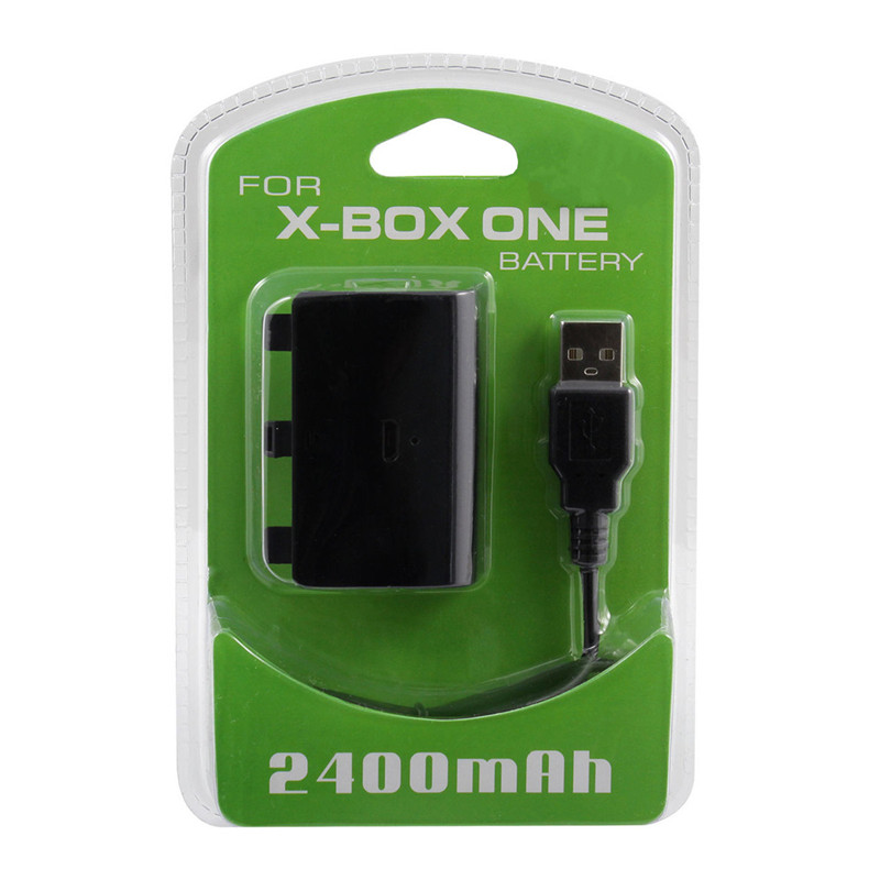 New Hot Selling Best Price 2400mAh Rechargeable Replacement Backup Battery Pack With USB Charging Cable for XBOX ONE Controller(China (Mainland))