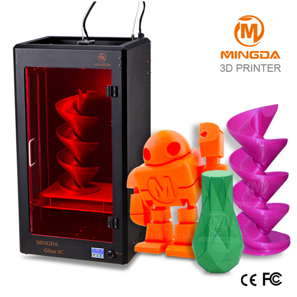 Dropshipping ! MINGDA full color 3d printer machine , industry level large 3d printer with 300*200*600mm buil size professional(China (Mainland))