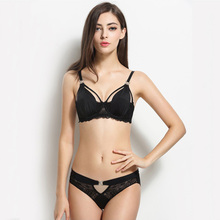 Sexy Transparent Hollow Silky Satin Lace Bra Set Comfort Soft Cup Rhinestone Bra And Panty Set Lingerie Women Underwear Set Bra