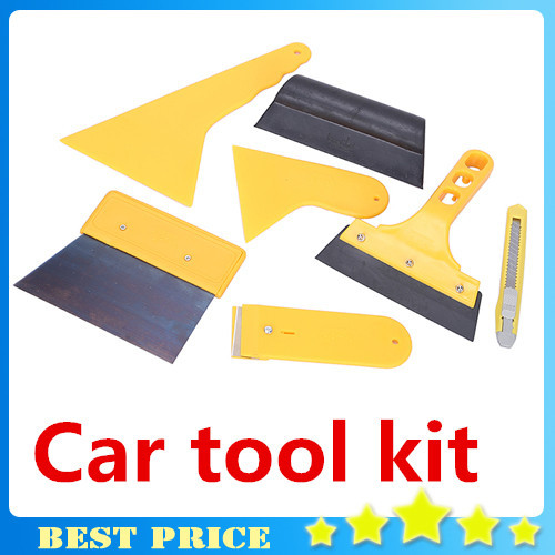 Free Shipping Hot 1set scraper deluxe tint squeegee car vehicle body window vinyl film wrap application installation tools kit(China (Mainland))