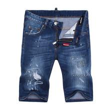 New Arrival Top quality Brand Men jeans,Classic denim shorts,Desiger short pants,Men's summer jeans cotton Blue jeans DQ1498
