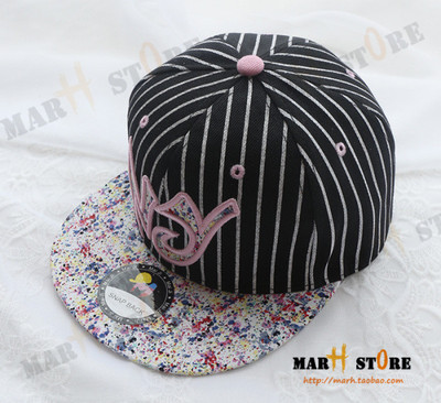 MARH STORE whimsy embroidery NY floral flat hat lovers baseball cap Summer men and women with the hat(China (Mainland))
