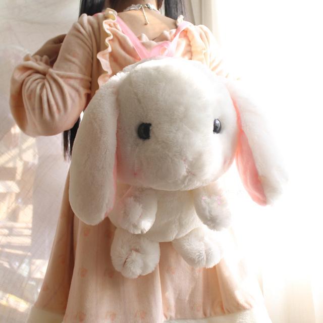 Японский аниме ЛОЛИТА женщины плюшевые рюкзаки милый кролик банни девушки игрушка ...