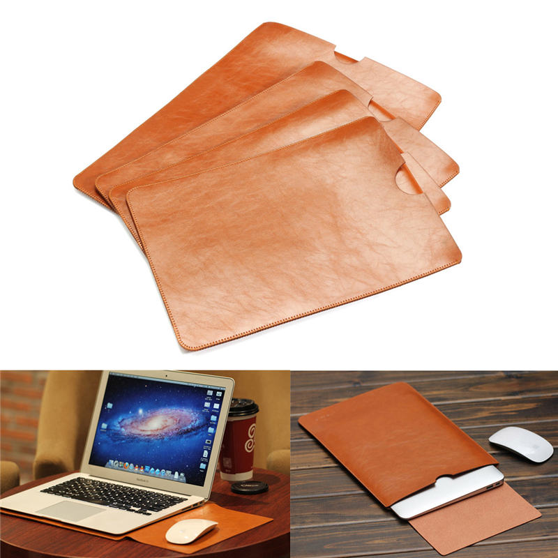 """PU Leather Case For MacBook Air Pro Retina 11 12 13 15"""" inch Laptop Bag Case Sleeve Notebook Ultrabook Carry Bag Case Pouch(China (Mainland))"""
