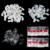 Горячие продажи 500 шт. Полный Круглый Ложные Nail Art Советы Акриловые УФ Гель Nail Советы # Ясно/Натуральный/белый