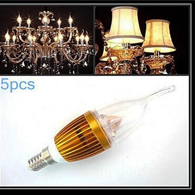 lustre 5PCS e14 3W White light SMD 250-300 LM CA35 bombillas led Candle AC 220-240 V Crystal lamp european Bulb(China (Mainland))