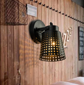 American Country Industrial Retro Creative Bar Wall Lamp Personality Iron Net Balcony Cafe Restaurant Wall Light
