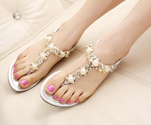 2016 Woman Sandals & Flip Flops fashion ladies sandals comfortable shoes woman's crystal decoration sandal summer shoes(China (Mainland))