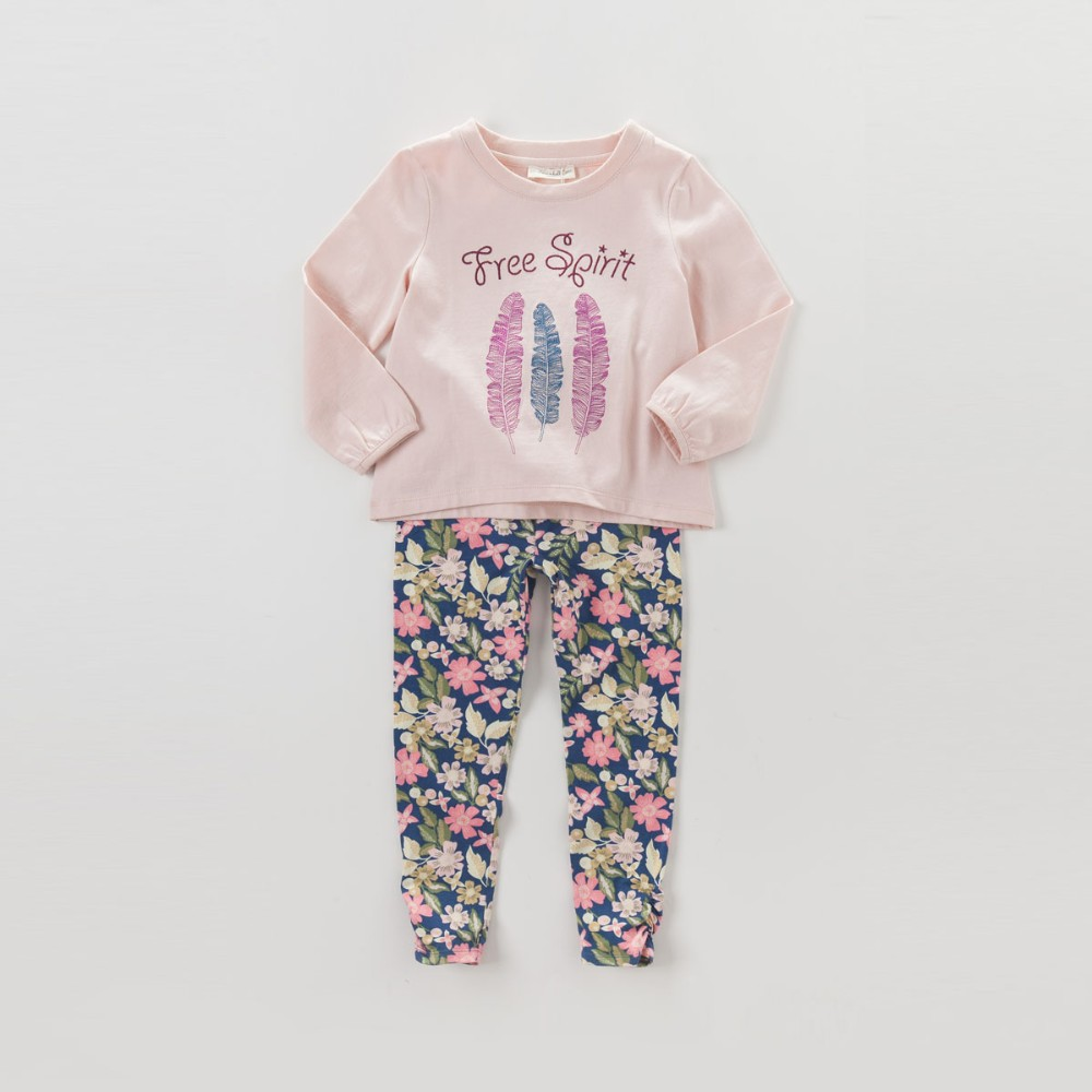 DK0468 dave bella  autumn baby girls embroidery blouses girls pink t-shirt girs top