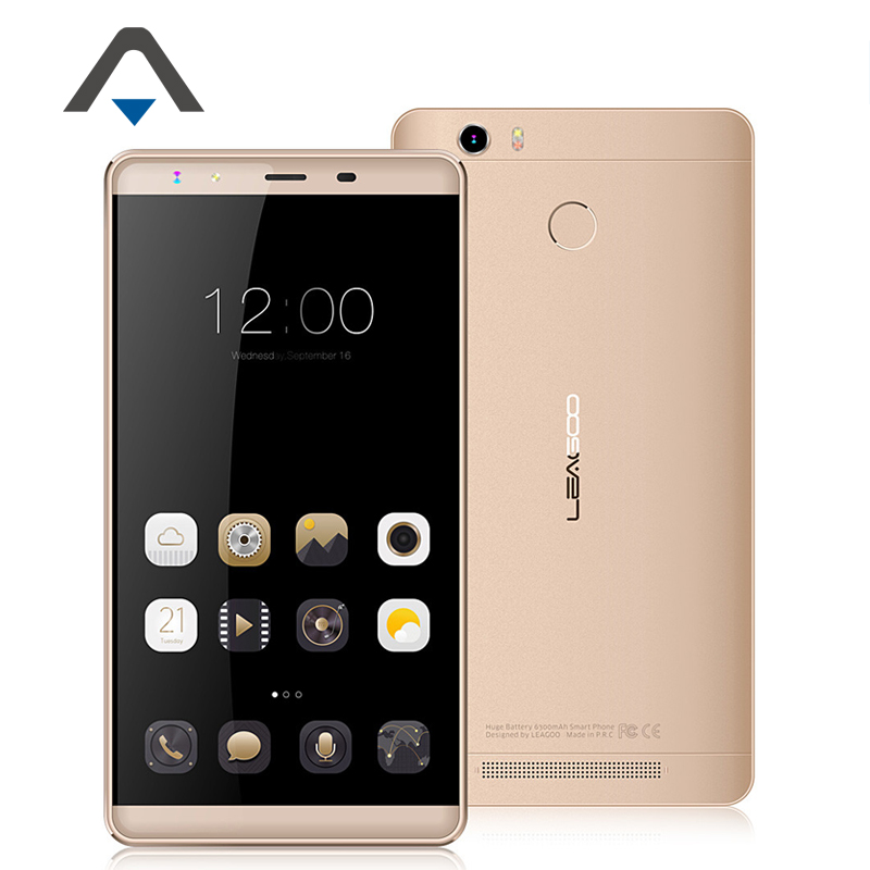 "Original Leagoo Shark 1 LTE 4G Cell Phone Android 5.1 6.0"" FHD 3GB RAM 16GB ROM MTK6753 Octa Core Phone 13.0MP 6300mAh Touch ID"