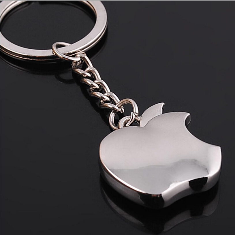 2015 New Fashion Apple Key Chain Classic Novelty Souvenir Metal Apple Keychain Creative Gifts Key Ring Trinket Accept LOGO(China (Mainland))