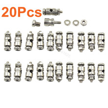 20pcs RC Plane Parts Replacement Pushrod Connectors Linkage Stoppers D2.1 mm D1.8mm D1.3mm For Electric Foamies Model Airplane(China (Mainland))