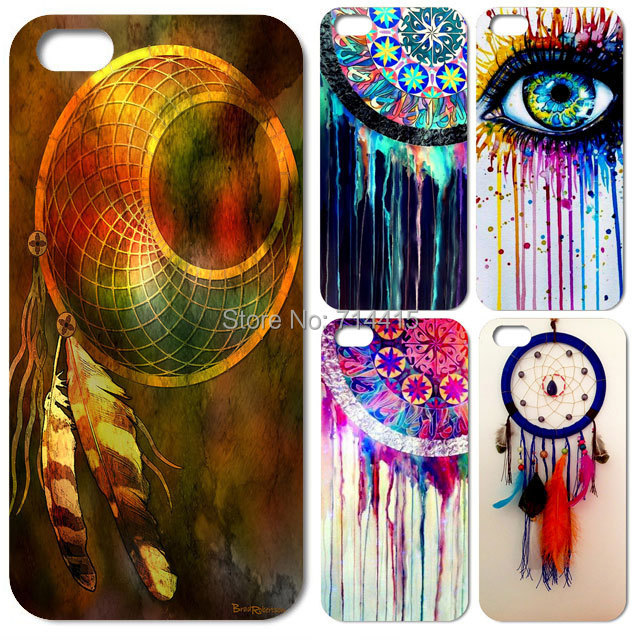 1PC Beautiful Colorful Dreamcatcher cell phone case hard cover iphone 4 4s 5 5s - TAOYUNXI store