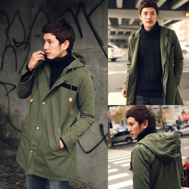 2015 Autumn Winter Military jacket windbreaker men Casacos Outdoors mens long hooded black trench coat,3XL - Fashionable Men store