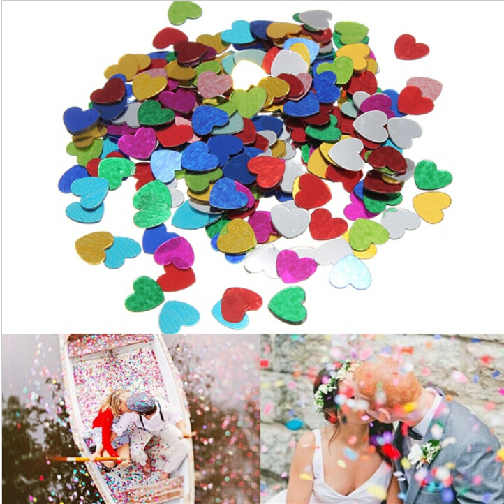 200 pcs Multicolor shine Romance Sparkle Love Heart Wedding Party Confetti Table Decoration birthday party Decorative Supplies(China (Mainland))