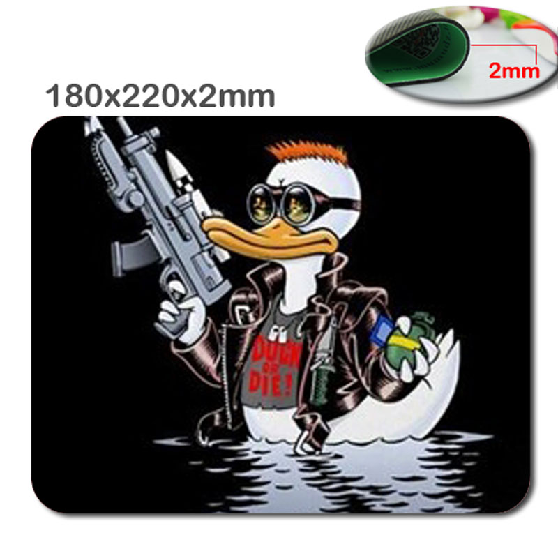 Hot Special customised non-slip durable fast printing for the terminator duck mat > super duck mouse pad for home and office(China (Mainland))