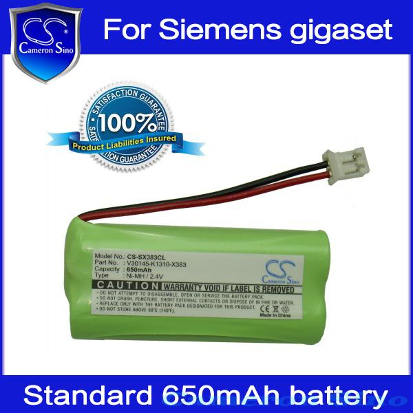 Cordless Phone Battery for Siemens Gigaset A12 A120 A14 A140 Duo Trio weib A145 A16 650mAh digital battery, Cameron Sino(China (Mainland))