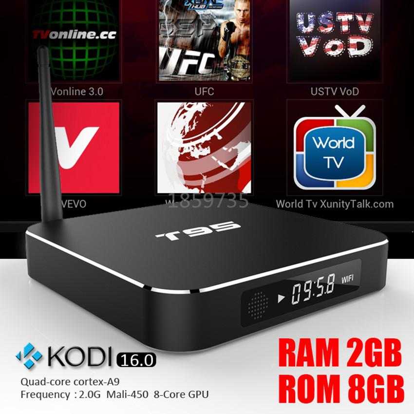 20pcs T95 Android 5.1 TV Box XBMC Kodi16.0 Fully installed Amlogic S905 Gigabit LAN WiFi BT4.0 Metal Case T95 TV Media Boxes(China (Mainland))