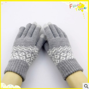 Knitted Phone Screen Touch Gloves outdoor hand wrist fitness guantes women/men luva 22cm 4 colors free shipping(China (Mainland))