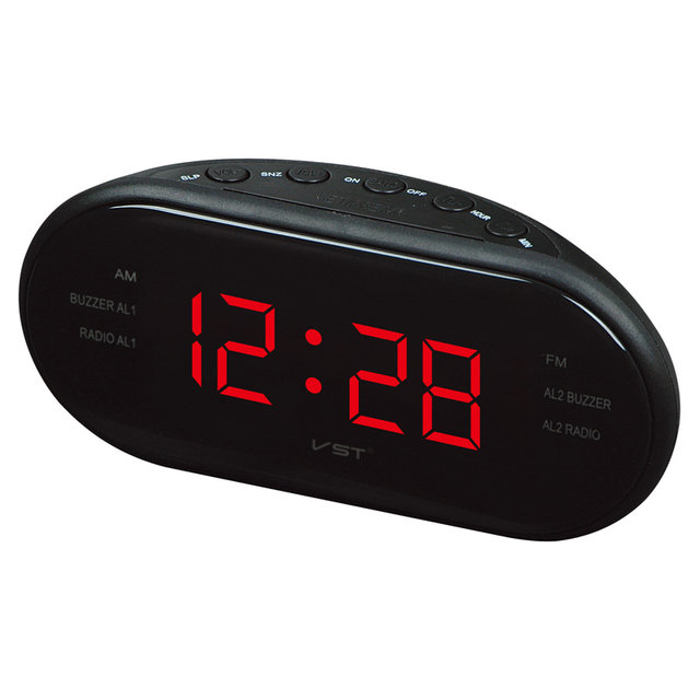 Led Am Fm Radio Digital Brand Alarm Clock Backlight Snooze