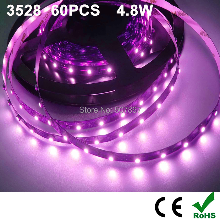 higher brightness ! 4.8w LED strip light ribbon single color 1 meters 60 pcs SMD 3258 terproof DC 12V counter lighting(China (Mainland))