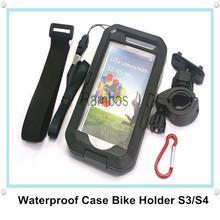 Bike Waterproof Smartphone Case Cover Handlebar Mount Holder Cradle for Samsung Galaxy S3 i9300 S4 i9500(China (Mainland))