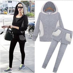 S-XL 2 piece set women tracksuits sportswear women sweatshirts hoodies sweat jogging suit for women 2015 fashion female velours(China (Mainland))
