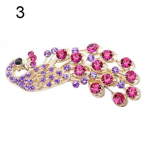 Fashion Peacock Full Crystal Rhinestones Hairpin Hair Clip Headwear Barrettes For Women GirlsОдежда и ак�е��уары<br><br><br>Aliexpress
