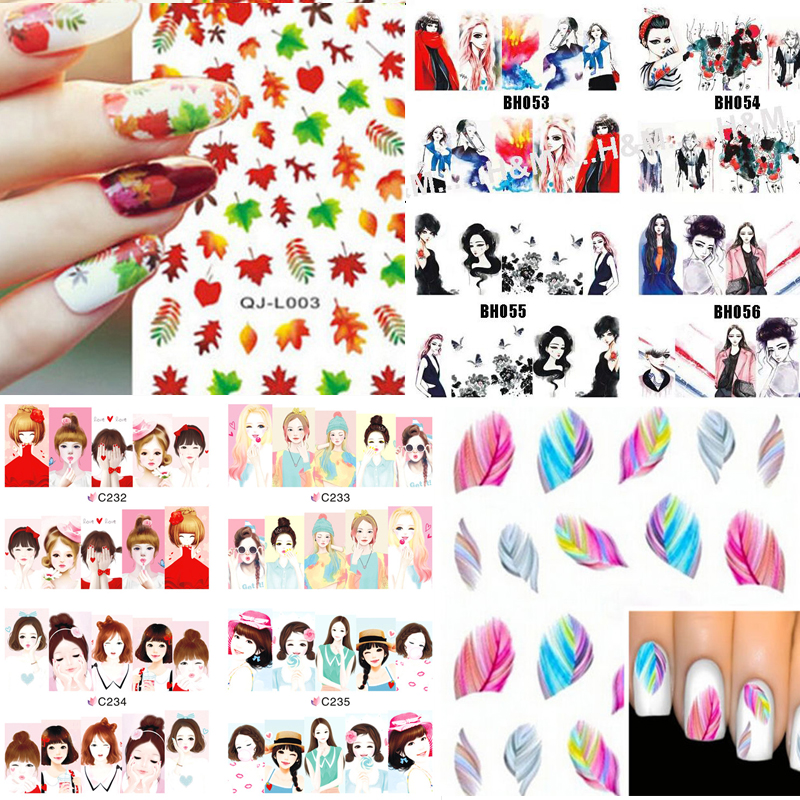 Гаджет  Cartoon Mystery Galaxies Water Transfer Nail Art Sticker Decals Minx Love Miss Design Nail Decoration Foil Decals K5653 None Красота и здоровье
