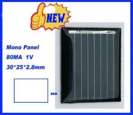 100PC1V 80mA DIY mini solar Mono panel solar cells solar accessories 30*25*2.8MM(China (Mainland))