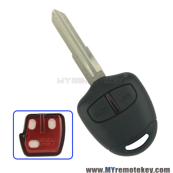 Remote key for 2006-2015 Mitsubishi outlander ASX 2 button MIT11R profile 433mhz with ID46 chip remtekey(China (Mainland))