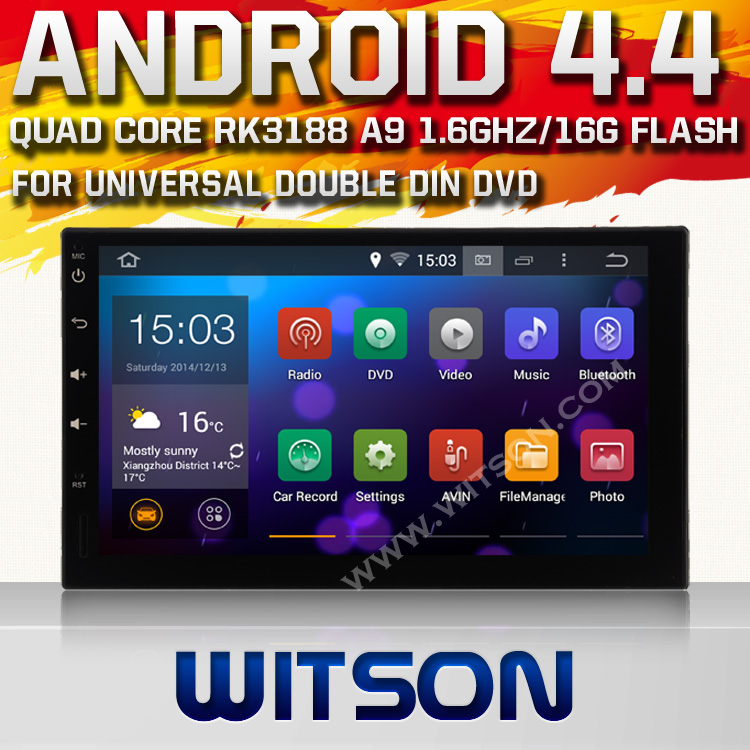 WITSON Quad Core RK 3188(PX3) CPU Android 4.4 CAR DVD GPS for NISSAN QASHQAI/Tiida/PALADIN 16GB Flash Memory+1024x600 HD Screen(China (Mainland))